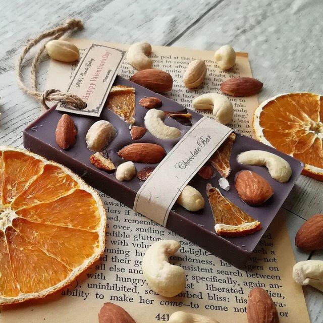 Nuts & Orange Chocolate Bar - アロマワックスサシェ ハンドメイドのインテリア/家具(アロマ/キャンドル)の商品写真