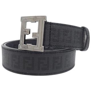 フェンディ(FENDI)のフェンディベルト PVC ブラック黒 グレー シルバー 40800071814(ベルト)