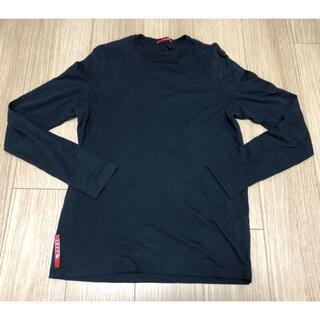 プラダ(PRADA)の超美品 プラダスポーツ 長袖カットソー  XS ブラック(Tシャツ/カットソー(七分/長袖))