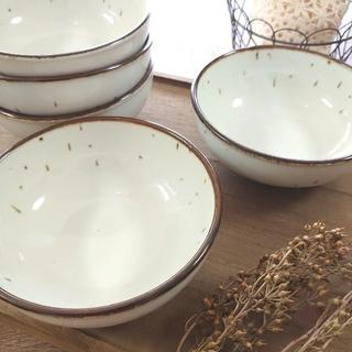 \SALE中/ 美濃焼 和楽アイボリーホワイト中鉢 5枚(食器)