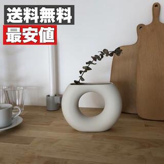 【最安値】ドーナツ型雑貨フラワーベース 花瓶 北欧 おしゃれ 雑貨 大人気(花瓶)
