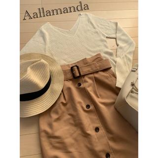 アラマンダ(allamanda)のAallamanda アラマンダ  ベージュ トレンチスカート(ひざ丈スカート)