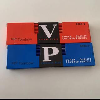 トンボエンピツ(トンボ鉛筆)のトンボ鉛筆 赤鉛筆 青鉛筆 各1ダース 未使用品(色鉛筆)