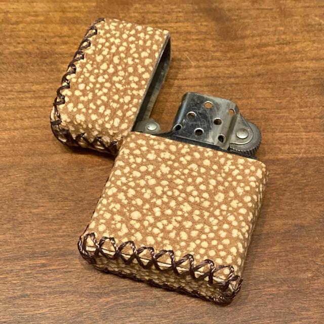 ZIPPO(ジッポー)の[本革] zippo用 レザーケース 革ケース 革巻き OP柄 メンズのファッション小物(タバコグッズ)の商品写真