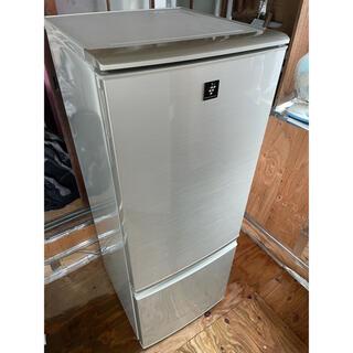 シャープ(SHARP)の68 SHARP2ドア冷蔵庫 SJ-PD17-N 2011年(冷蔵庫)