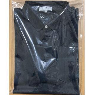 シーケーカルバンクライン(ck Calvin Klein)のカルバンクライン チンツリネンポリ ビジネス ポロシャツ ブラック系 2L(ポロシャツ)