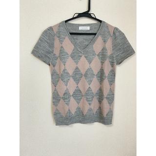 エニィスィス(anySiS)のニットトップス 半袖カットソー(Tシャツ(半袖/袖なし))