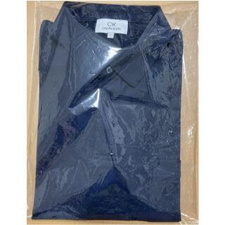 シーケーカルバンクライン(ck Calvin Klein)のカルバンクライン チンツリネンポリ ビジネス ポロシャツ ネイビー系 2L(ポロシャツ)
