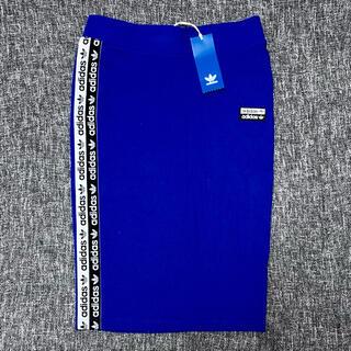 アディダス(adidas)のadidas originals サイドロゴラインタイトスカート タグ付き新品(ひざ丈スカート)