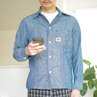 ポストオーバーオールズ(POST OVERALLS)の《POST O'ALLS シャツジャケット シャンブレー S アメリカ製》(シャツ)