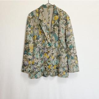 エディットフォールル(EDIT.FOR LULU)のヴィンテージ 花柄ジャケット(テーラードジャケット)