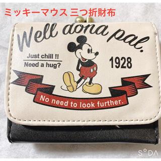 ディズニー(Disney)のミッキーマウス コンパクト三つ折財布(財布)