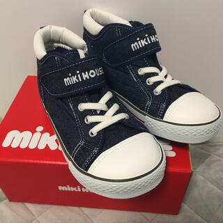mikihouse - 新品 ミキハウス 19センチ インディゴブルー