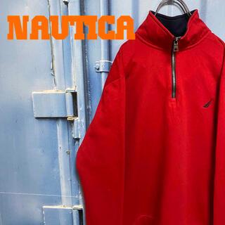 ノーティカ(NAUTICA)のNAUTICA ハーフジップ スウェット オーバサイズ ゆるだぼ ワンポイント(スウェット)