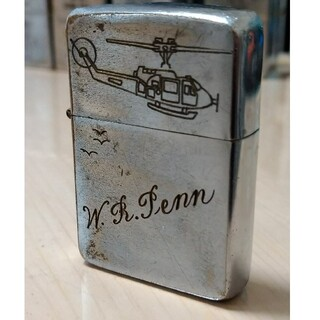 ジッポー(ZIPPO)の【ベトナムZIPPO】本物 1962年製ベトナムジッポー ヴィンテージ ヘリ(タバコグッズ)