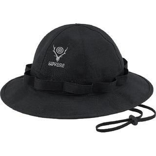 シュプリーム(Supreme)の新品■Supreme × SOUTH2 WEST8 Jungle Hat 黒(ハット)