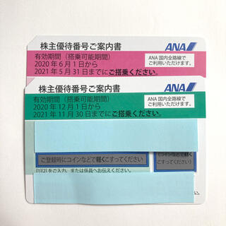 ANA株主優待券 2枚 [2021年11月30日まで延長](その他)
