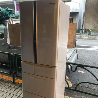 パナソニック(Panasonic)のPanasonic フレンチドア6枚扉 415L 冷蔵庫 NR-FTF424-H(冷蔵庫)