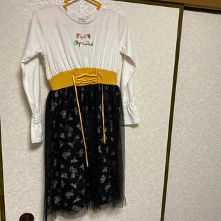チップアンドデール(チップ&デール)のRight-onのディズニーのチップとデールのワンピース140センチ(Tシャツ/カットソー)