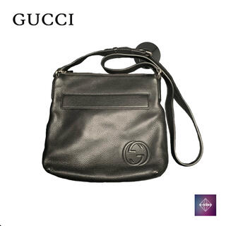 グッチ(Gucci)の【未使用品】 グッチ ショルダーバッグ メッセンジャーバッグ レザー ブラック(ショルダーバッグ)