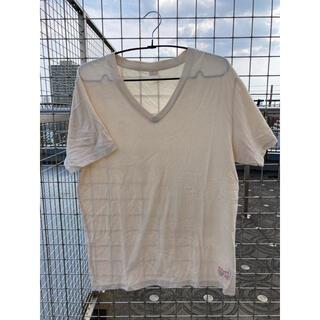 ウィルソン(wilson)のWilson ウィルソン vネックTシャツ ベージュ(Tシャツ/カットソー(半袖/袖なし))