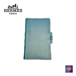 エルメス(Hermes)の【美品】 HERMES エルメス アジェンダ ブルー 手帳カバー ブックカバー(手帳)