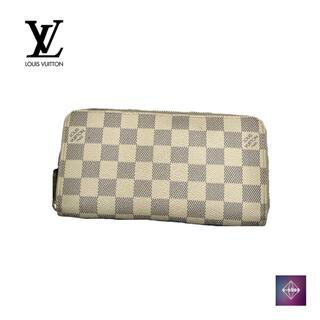 ルイヴィトン(LOUIS VUITTON)のルイヴィトン ラウンドファスナー ウォレット アズール N41660 財布(長財布)
