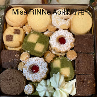 Misa RINNe aoi 様専用クッキー缶 brown(菓子/デザート)