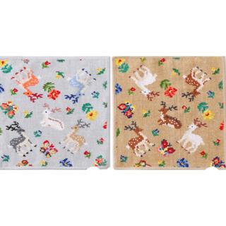 フェイラー(FEILER)のFEILER 遊中川 コラボ ハンカチ グレー&ベージュ 2枚セット(ハンカチ)