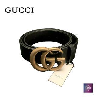 グッチ(Gucci)のグッチ GGマーモント ベルト 400593 バックル ブラック ゴールド(ベルト)