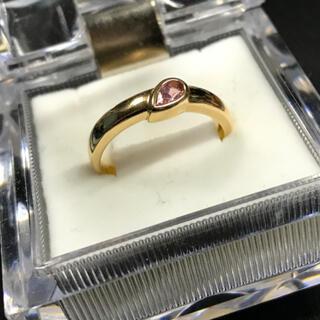 ピンクサファイアリング K18YG 14号(リング(指輪))