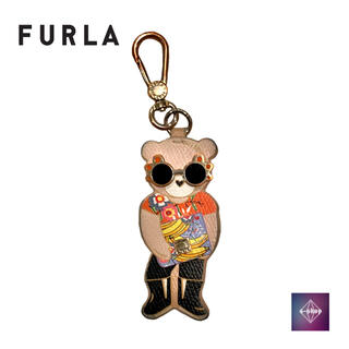 フルラ(Furla)のフルラ FURLA クマフラージュ チャーム キーリング レザー(キーケース)