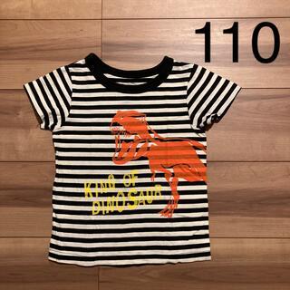 フェリシモ(FELISSIMO)のボーダー 恐竜Tシャツ 110(Tシャツ/カットソー)