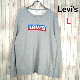 Levi's - リーバイス◎ビッグシルエット トレーナー(L)ゆるだぼ 古着女子 ビッグロゴ