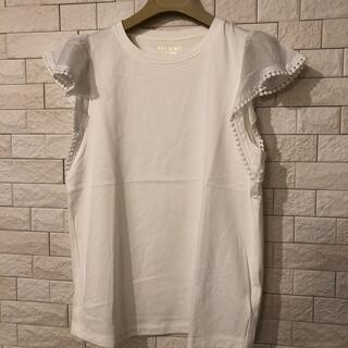 ケイトスペードニューヨーク(kate spade new york)の新品 ケイトスペード  フリルTシャツ xsサイズ(Tシャツ(半袖/袖なし))