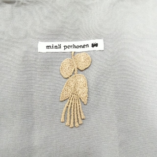 mina perhonen - ミナペルホネン エコバッグ(ショッパー) グレー 中大