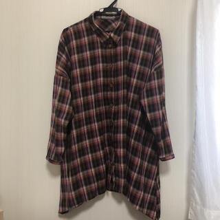 アルカリ(alcali)のアルカリ  ロングチェックシャツ(シャツ/ブラウス(長袖/七分))