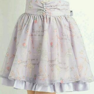 リズリサ(LIZ LISA)のバレリーナ柄スカート*゜(ひざ丈スカート)