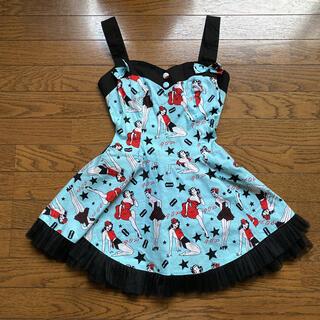 ケイティー(Katie)のHELL BUNNY★ヘルバニー pinupドレス dress ピンナップガール(ミニワンピース)