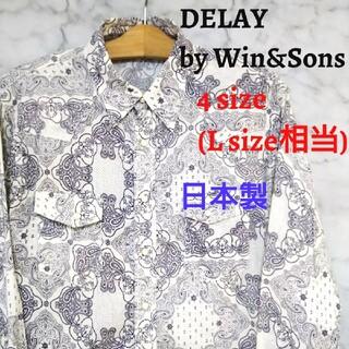 ウィンアンドサンズ(Win&Sons)の【美品】DELAY by Win&Sons ペイズリー柄 長袖シャツ(シャツ)