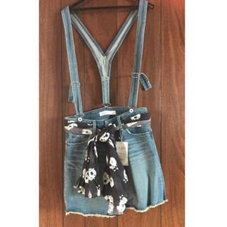 ウエストウッドアウトフィッターズ(Westwood Outfitters)のデニムショートパンツ(ドクロ柄スカーフベルト付き)(ショートパンツ)