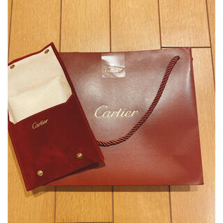 カルティエ(Cartier)のカルティエ ショップ袋 ポーチ ギフト プレゼント(ショップ袋)