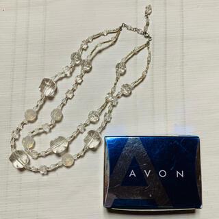 エイボン(AVON)のAVON クリアネックレス(ネックレス)
