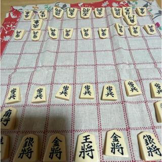 布の将棋盤と駒のセット (囲碁/将棋)