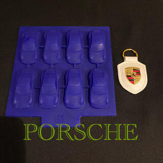ポルシェ(Porsche)の【正規品】ポルシェ 911 シリコン アイスキューブ トレイ & キーホルダー(車外アクセサリ)