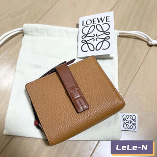 ロエベ(LOEWE)のLOEWE<新品レシート付き>コンパクトジップ財布 ライトキャラメル(財布)