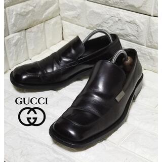 グッチ(Gucci)の✿GUCCI✿ スリッポンsize42E (約27.0cm) 黒茶(ドレス/ビジネス)