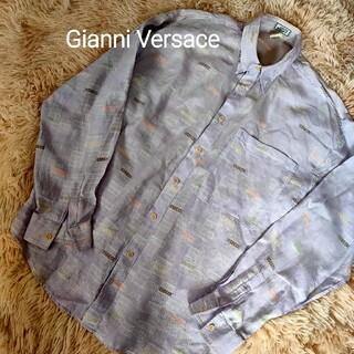 ジャンニヴェルサーチ(Gianni Versace)のGianni Versace ナンバーロゴ 総柄シャツ ジャンニヴェルサーチ(シャツ)