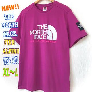 ザノースフェイス(THE NORTH FACE)のユニセックス ♪ ノースフェイス ファイン アルパイン Tシャツ EU パープル(Tシャツ/カットソー(半袖/袖なし))