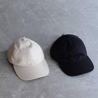 コモリ(COMOLI)の【新品】LE エルイー 6 PANEL CAP ブラック レショップ (キャップ)